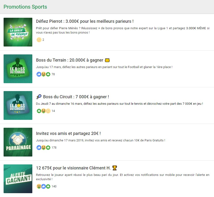 Casino Unibet les sports promotions